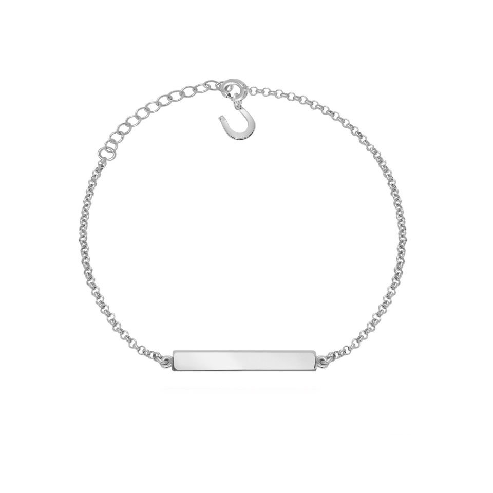 Armband mit Gravur Silber mit Hufeisen Charm – AURÉLIA
