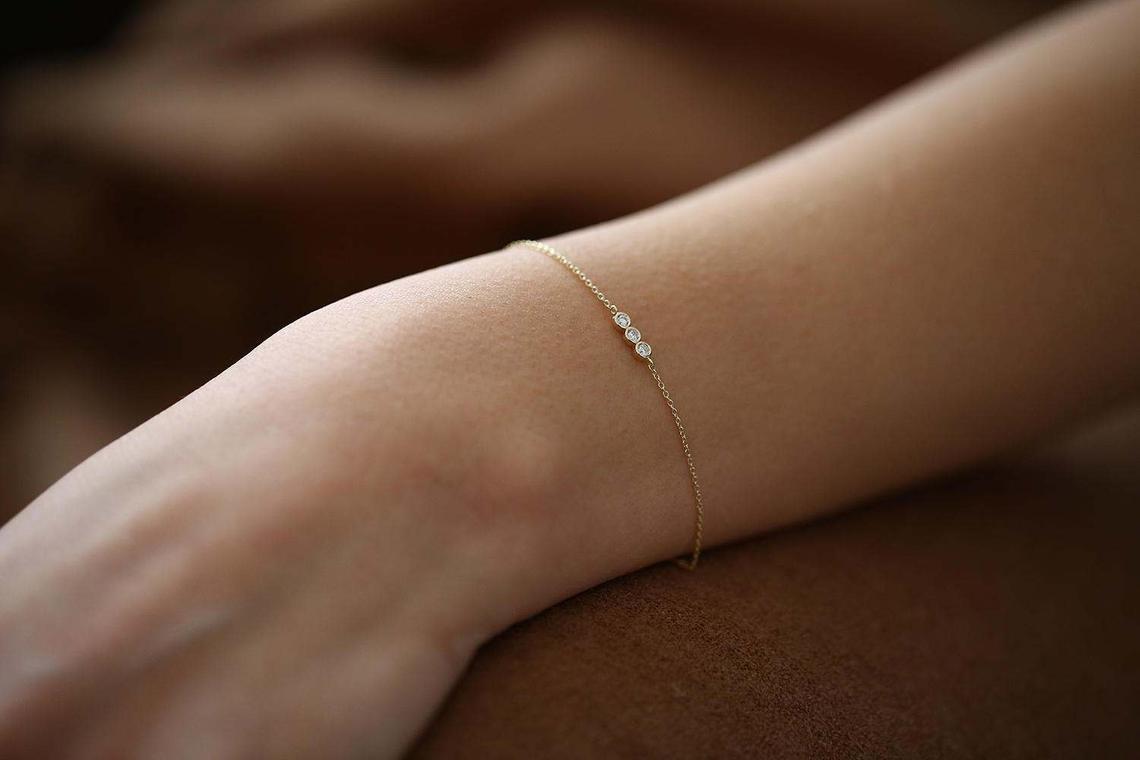 Diamant Armband ASIA I 585er RoseGold 0,10 Karat