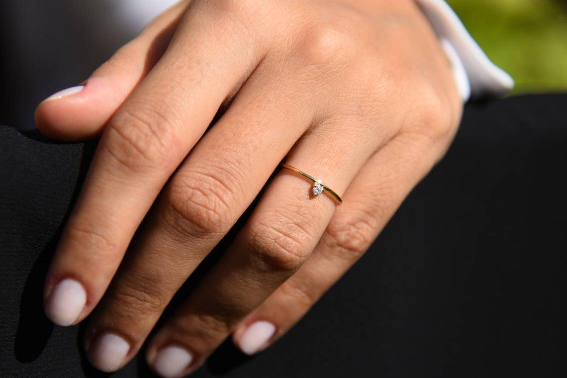Diamant Ring EMMA I 585er Gold ca. 0,05 Carat