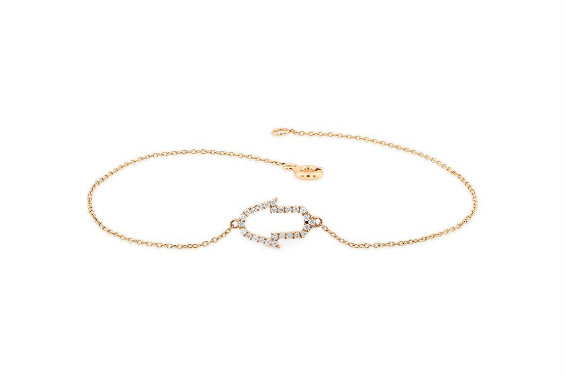 Diamant Armband NAINA I 585er RoseGold 0,16 Karat