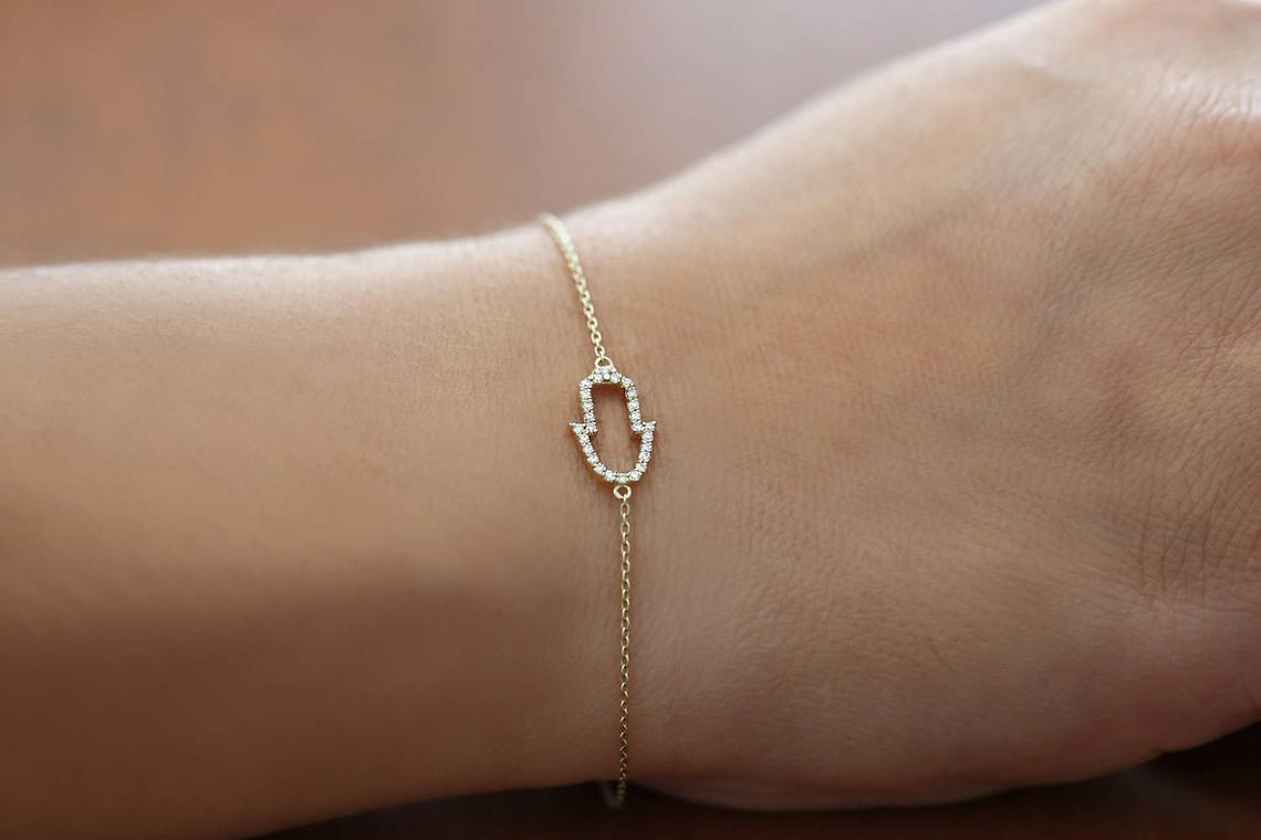 Diamant Armband NAINA I 585er Weißgold 0,16 Karat