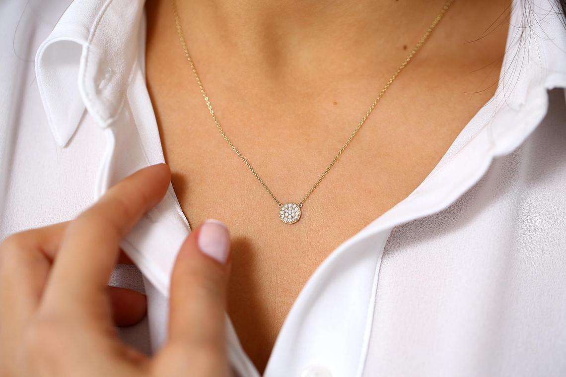 Diamant Kette LAYLA I 585er Roségold 0,12 Karat