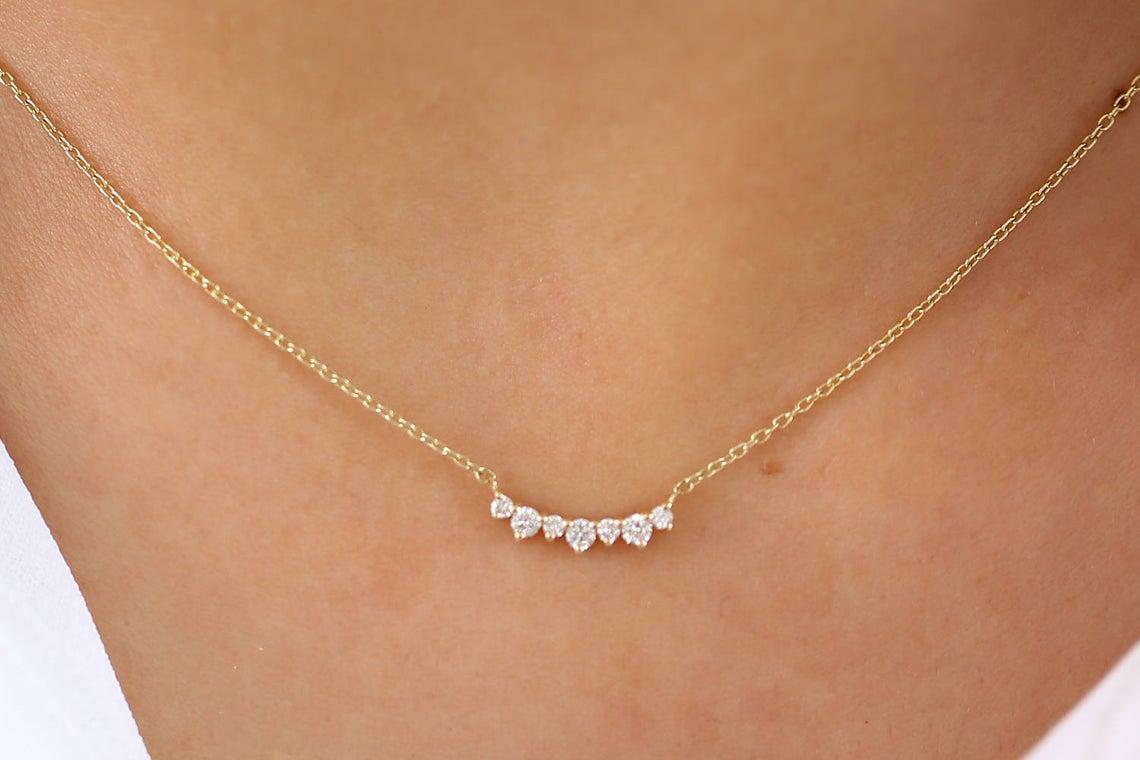 Diamant Kette MILA I 585er Weißgold 0,12 Karat