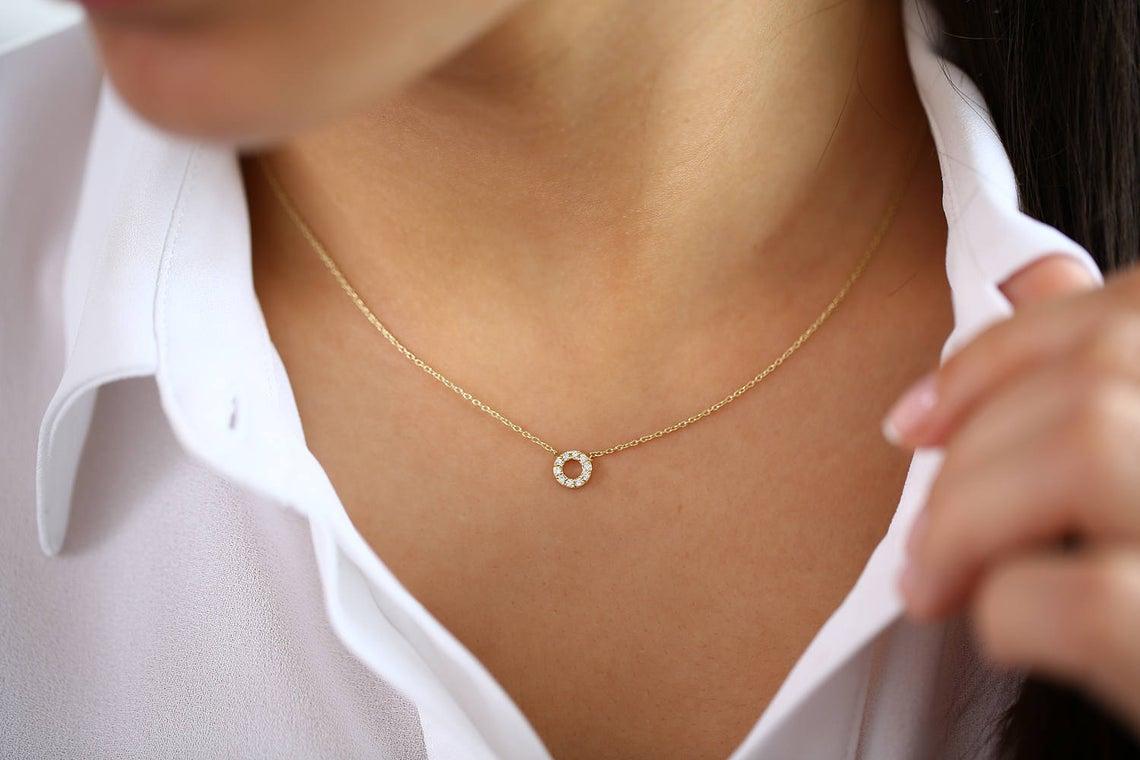 Diamant Kette Kayla I 585er Weißgold 0,12 Karat
