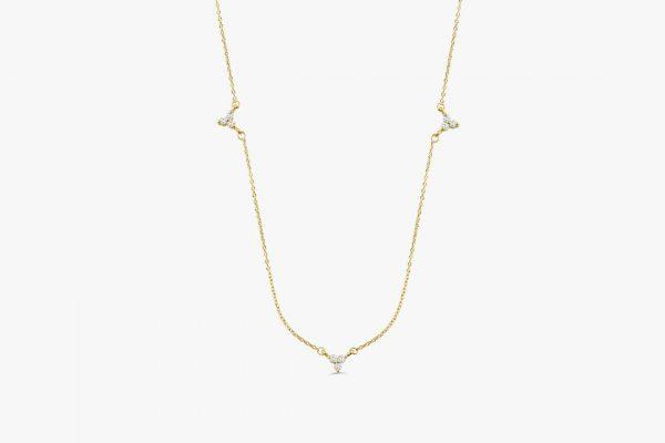 Diamant Kette AURORA I 585er Gold 0,12 Karat