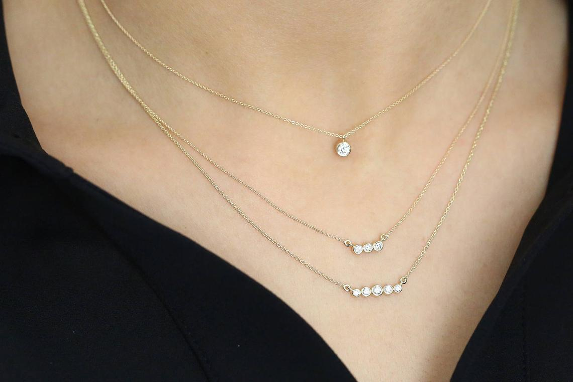 Diamant Kette LEAH I 585er Gold 0,10 Karat