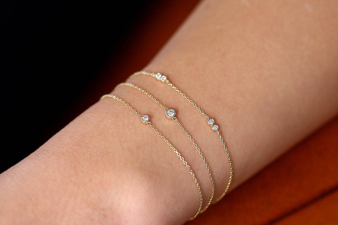 Diamant Armband CARLOTTA I 585er Gold 0,16 Karat