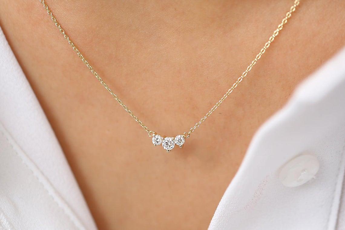 Diamant Kette AVERY I 585er Gold 0,26 Karat