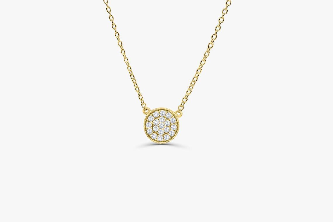 Diamant Kette LAYLA I 585er Weißgold 0,12 Karat