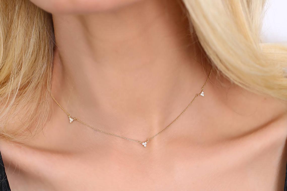 Diamant Kette AURORA I 585er Roségold 0,12 Karat