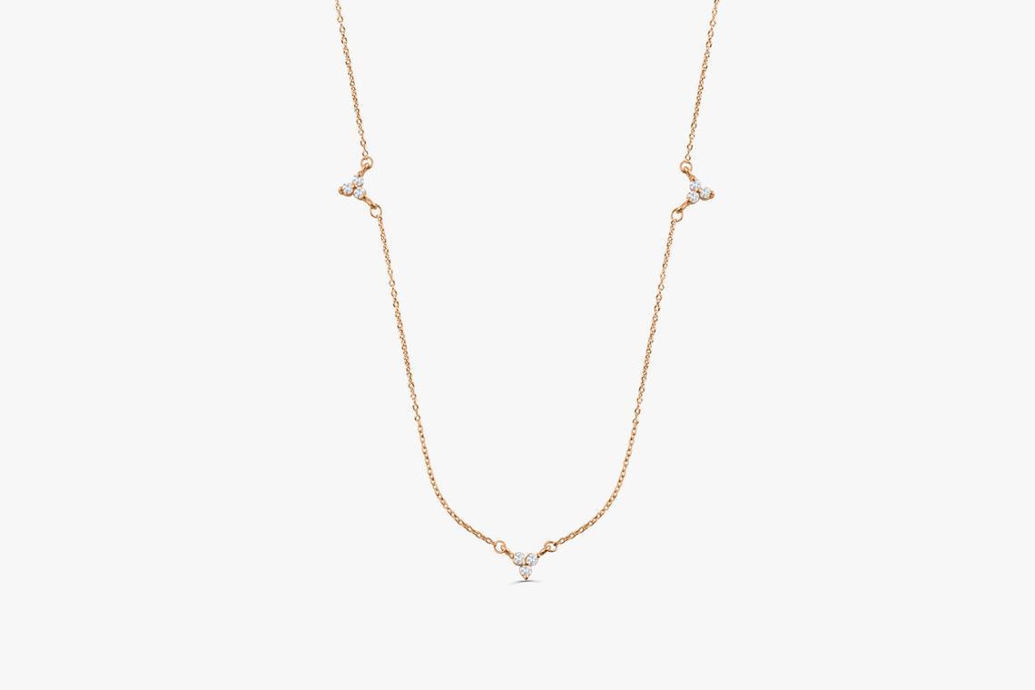 Diamant Kette AURORA I 585er Weißgold 0,12 Karat