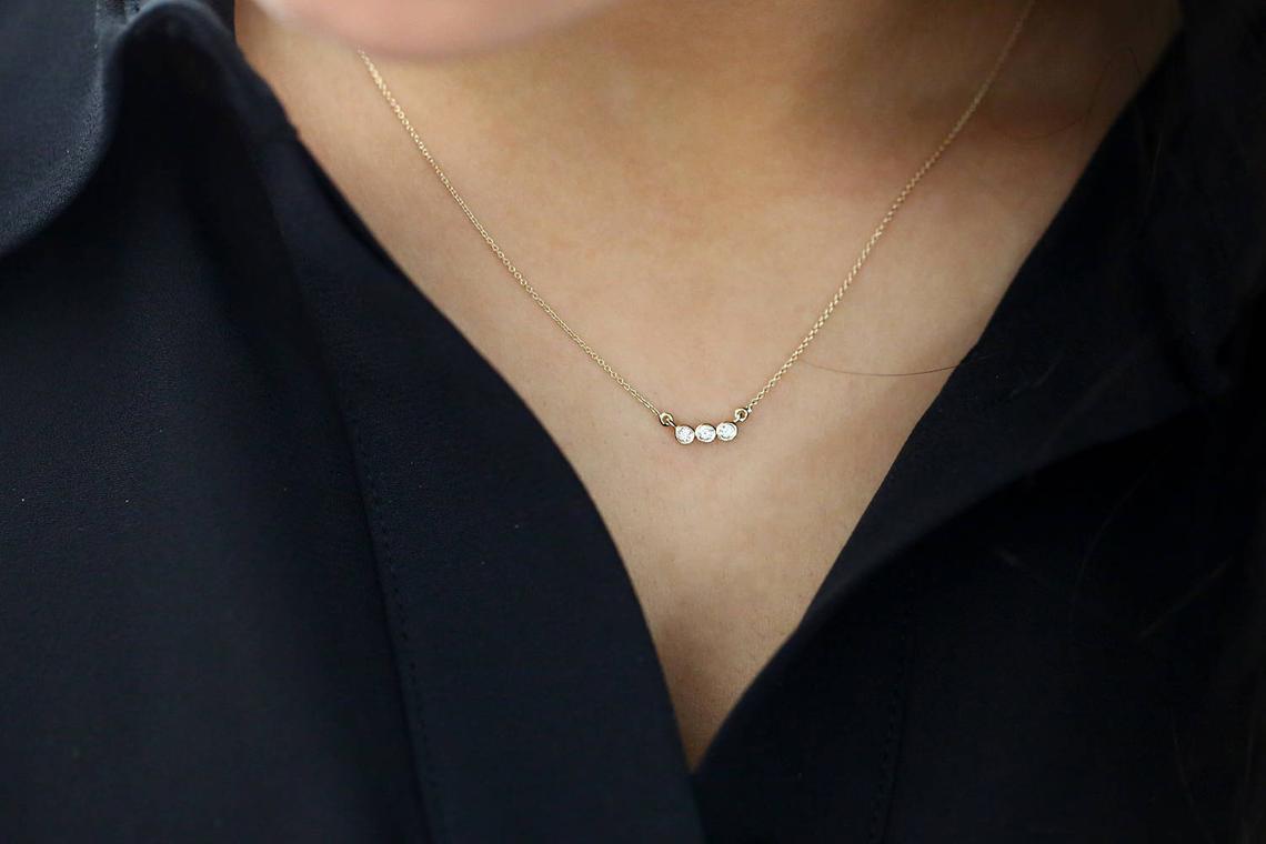 Diamant Kette LEAH I 585er Weißgold 0,10 Karat