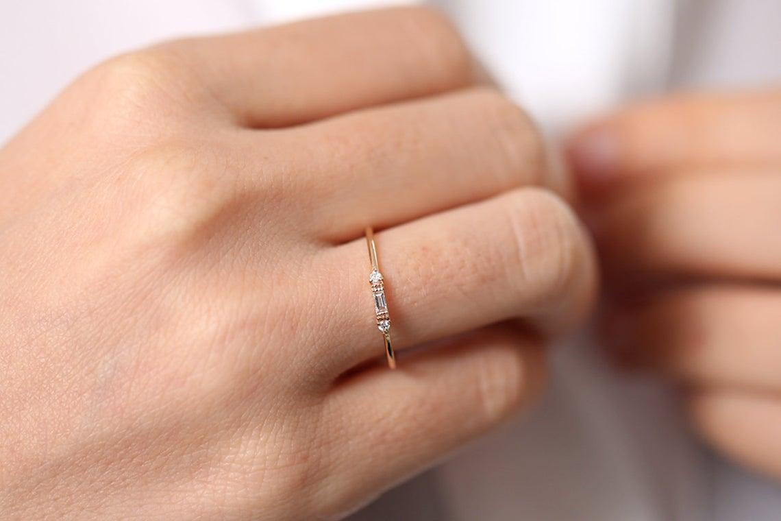 Diamant Ring ROSE I 585er Gold 0,14 Karat