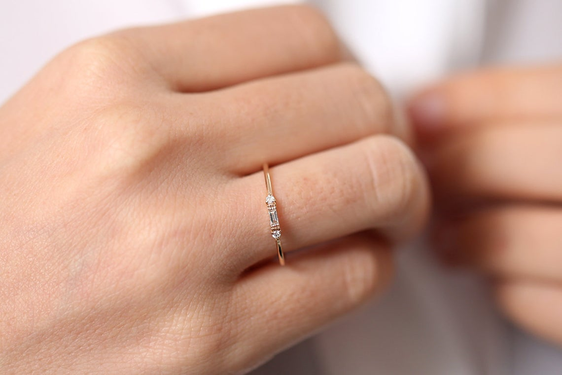 Diamant Ring ROSE I 585er Roségold 0,14 Karat