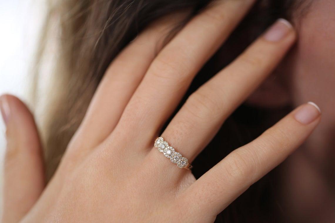 Diamant Ring ANNA I 585er Gold 0,52 Karat