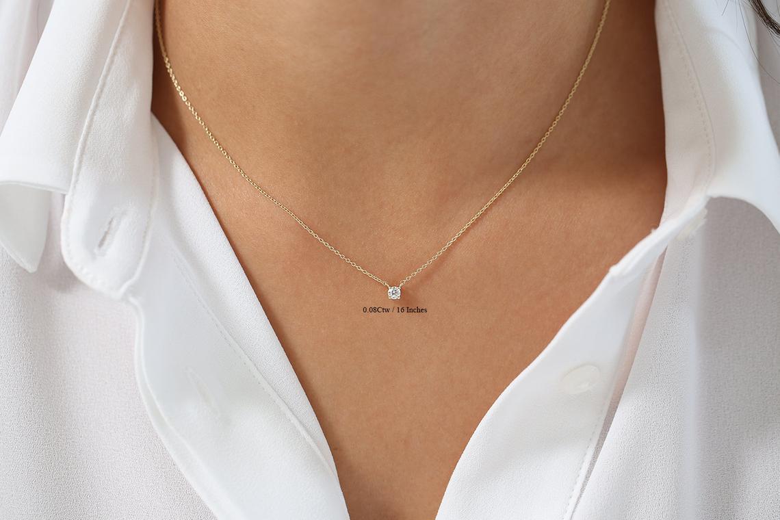 Diamant Kette CAROLIN I 585er Weißgold 0,05 Karat