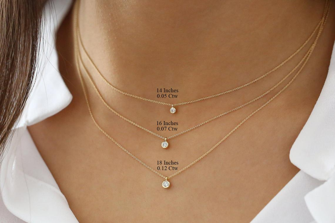 Diamant Kette VALERIE I 585er Weißgold 0,05 Karat
