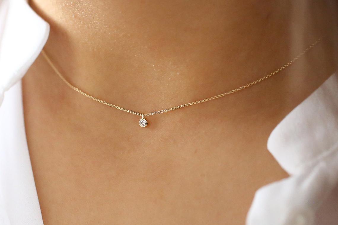Diamant Kette VALERIE I 585er Gold 0,08 Karat