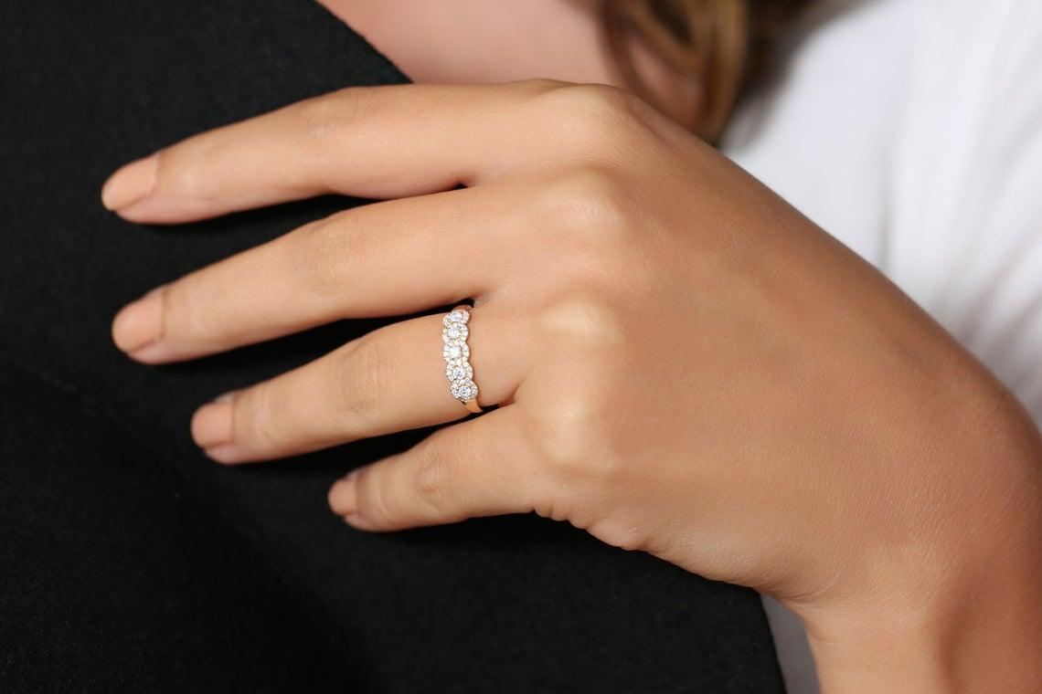 Diamant Ring ANNA I 585er Roségold 0,52 Karat