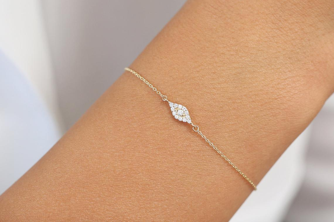 Diamant Armband MARGHERITA I 585er RoseGold 0,15 Karat