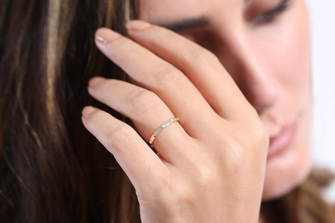 Diamant Ring MICHELLE I Roségold 0,12 Karat