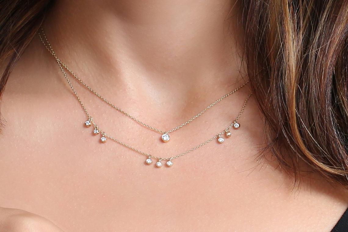 Diamant Kette ARIA I 585er Weißgold