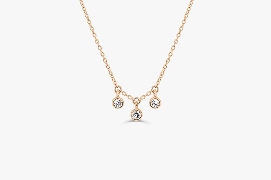 Diamant Kette LILY I 585er Gold 0,10 Karat