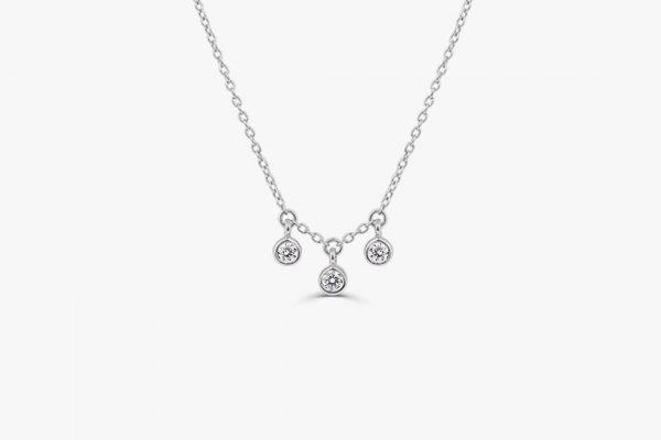 Diamant Kette LILY I 585er Weißgold 0,10 Karat