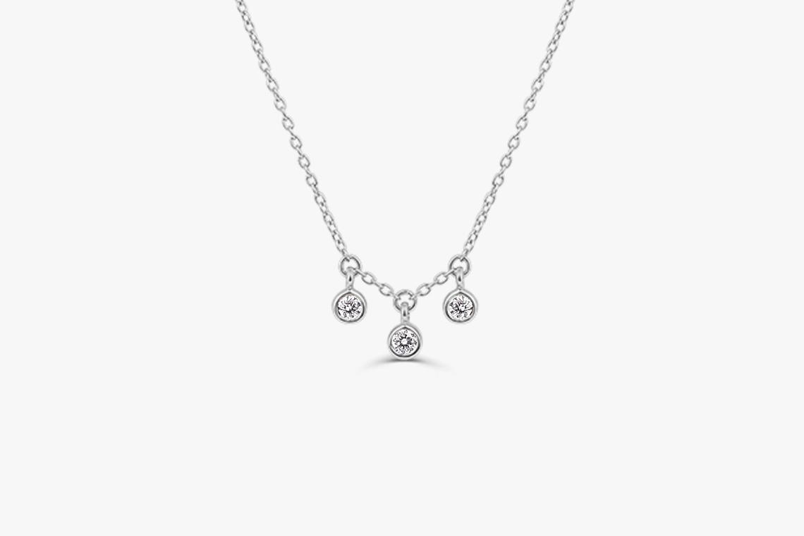 Diamant Kette LILY I 585er Roségold 0,10 Karat