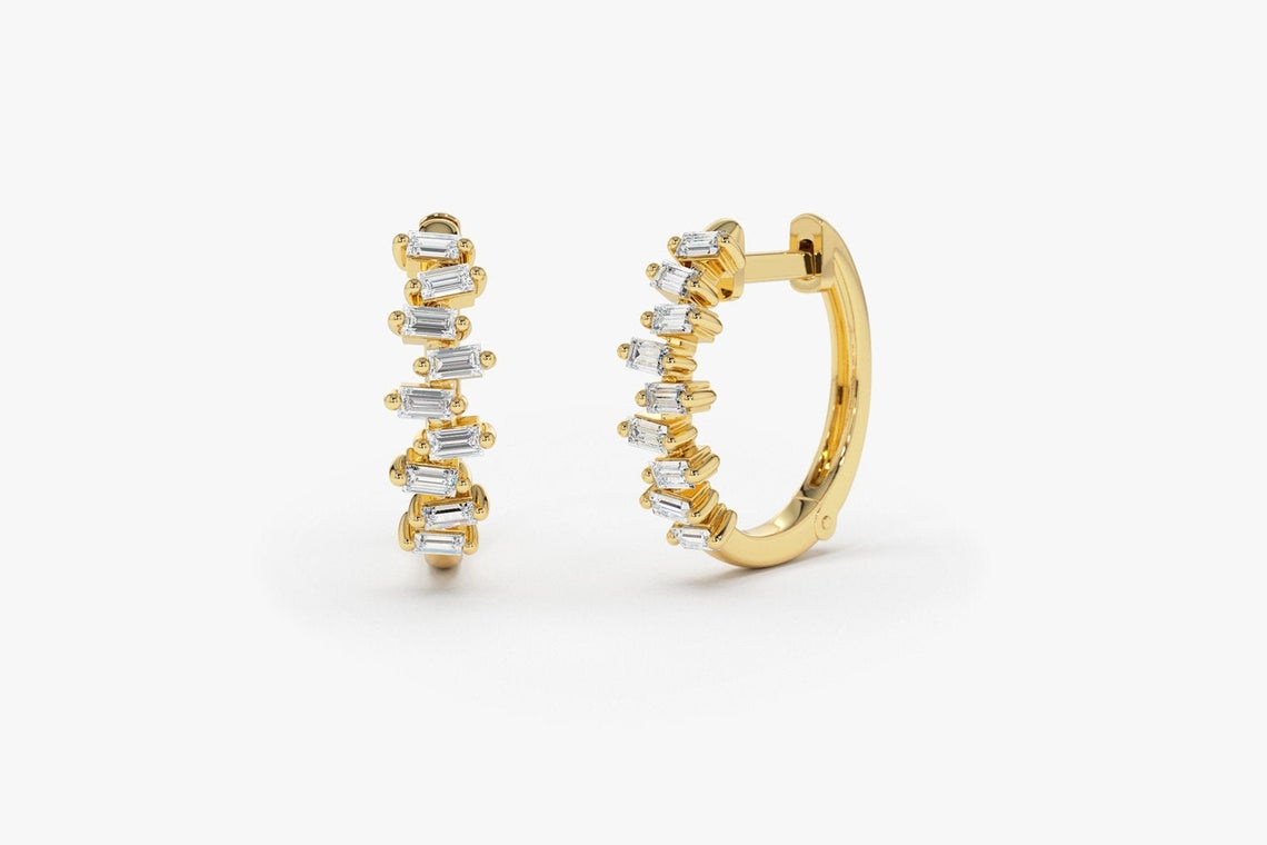 Diamant Ohrringe Creole VICTORIA I 585er Weißgold 0,39 Karat