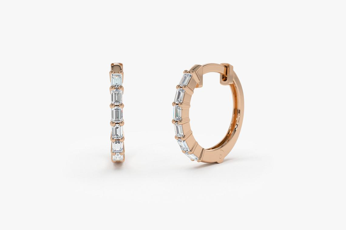 Diamant Ohrringe Creolen CARRIE I 585er Weißgold 0,25 Karat