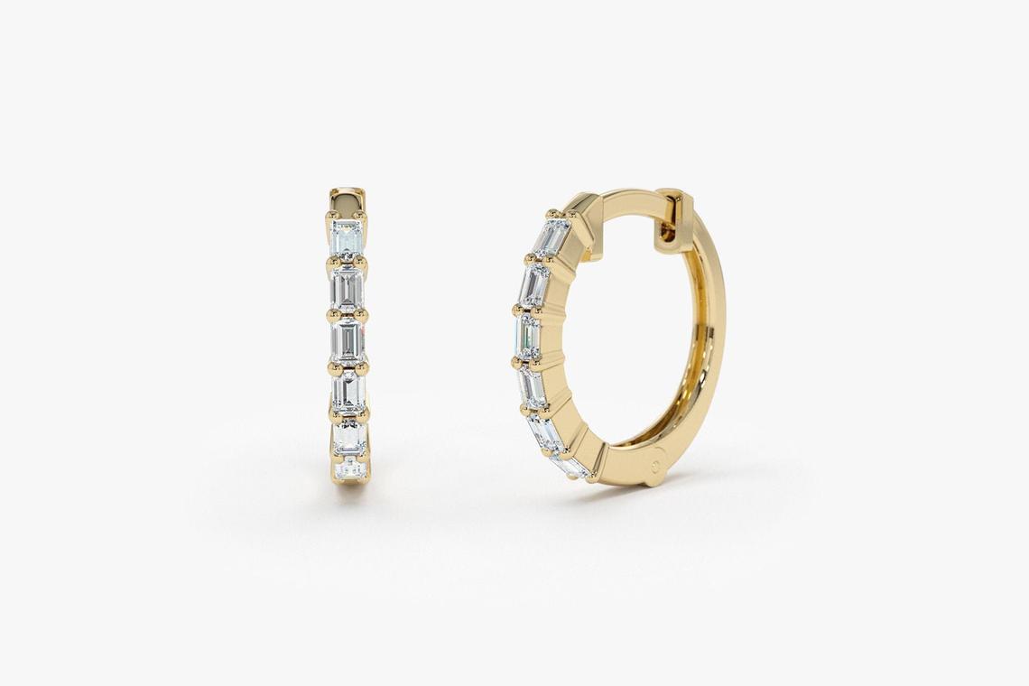 Diamant Ohrringe Creolen CARRIE I 585er Gold 0,25 Karat