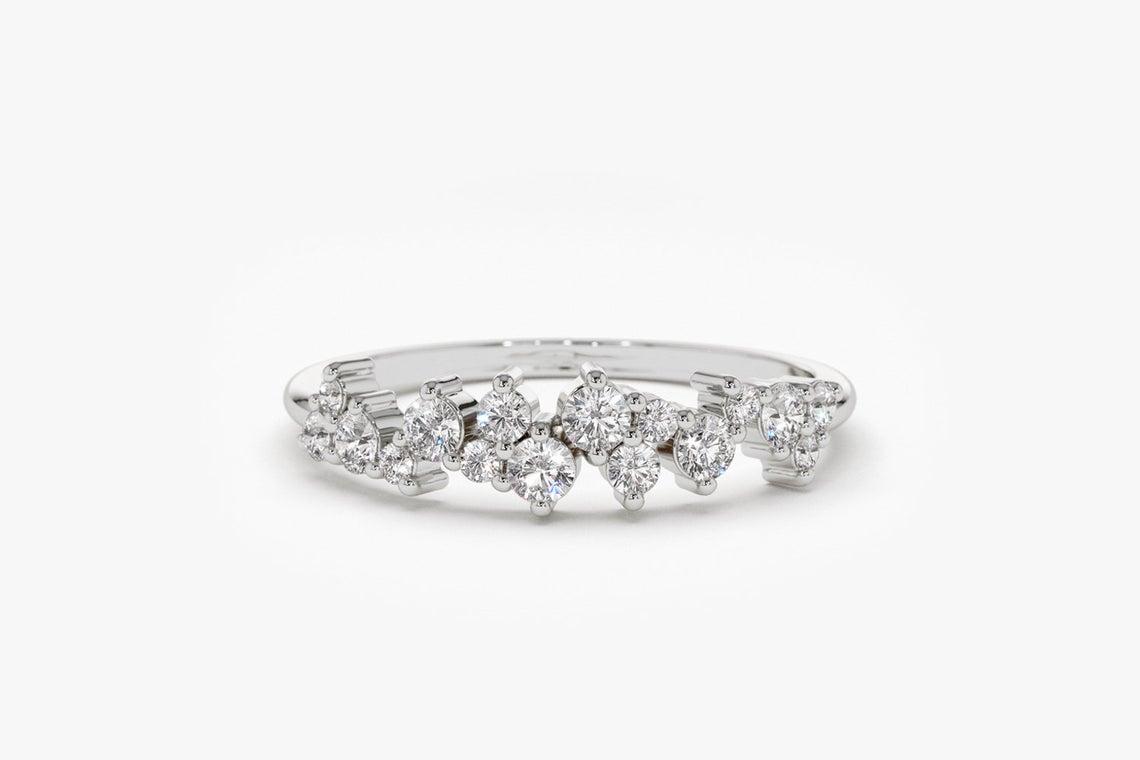 Diamant Ring LARA I 585er Weißgold 0,39 Karat