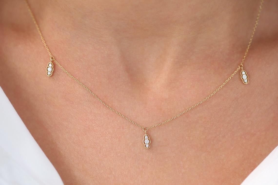 Diamant Kette CAMILA I 585er Roségold 0,12 Karat