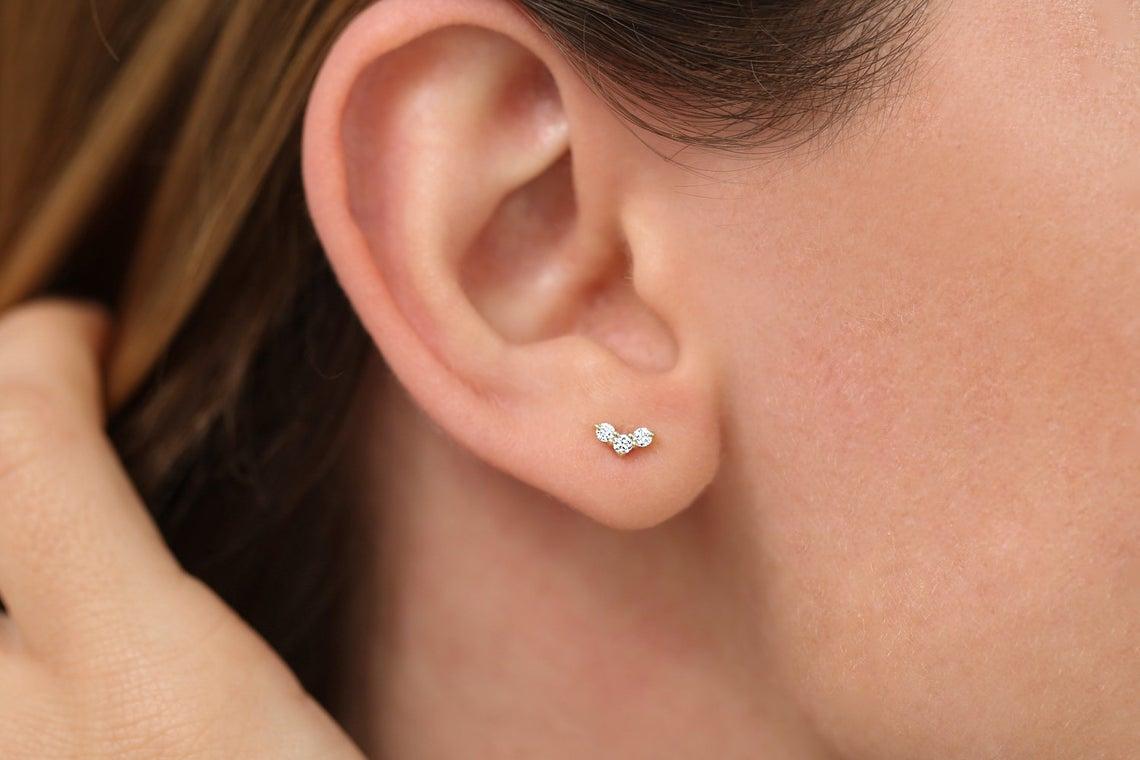 Diamant Ohrstecker CLARA I 585er Roségold 0,15 Karat