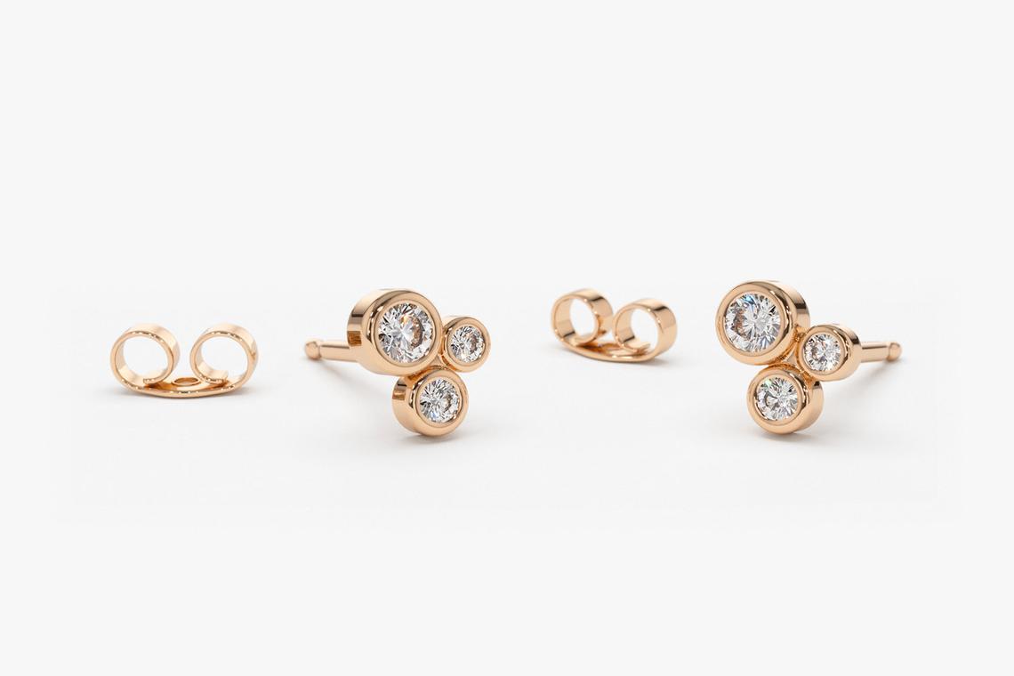 Diamant Ohrstecker CHARLOTTE I 585er Roségold 0,26 Karat