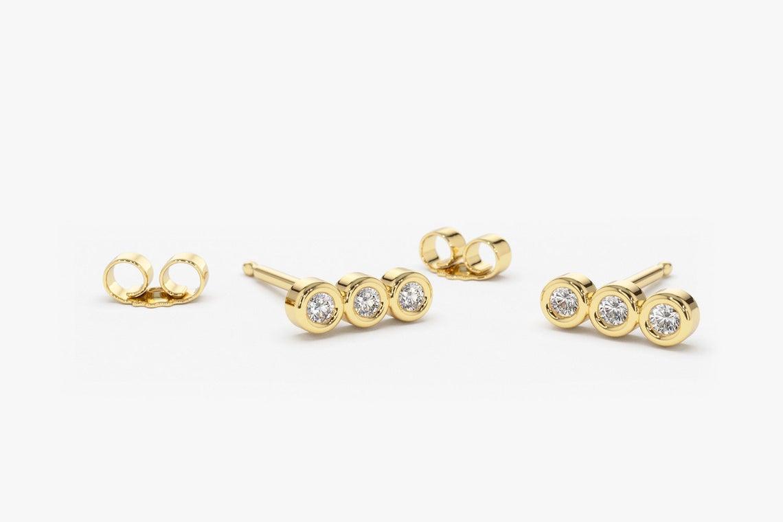 Diamant Ohrstecker LESLIE I 585er Weißgold 0,20 Karat