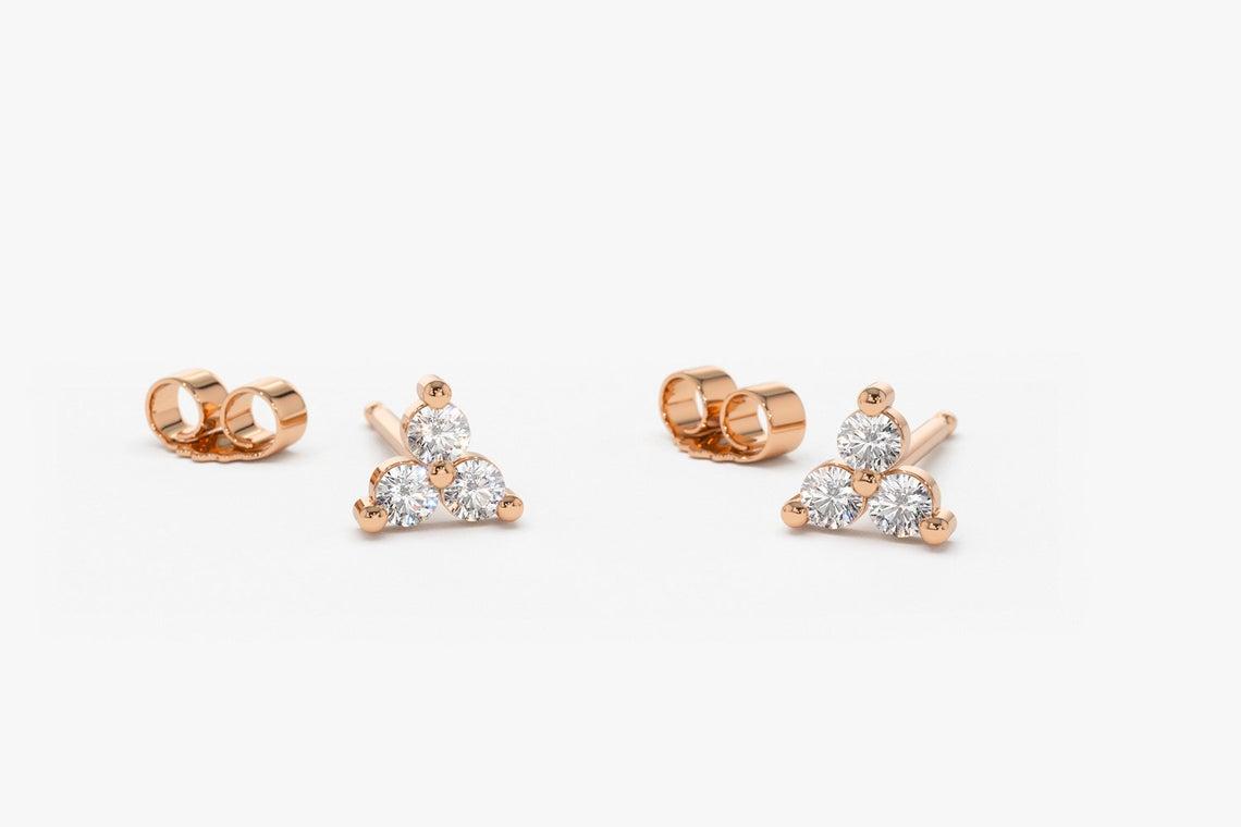 Diamant Ohrstecker YVES I 585er Gold 0,14 Karat