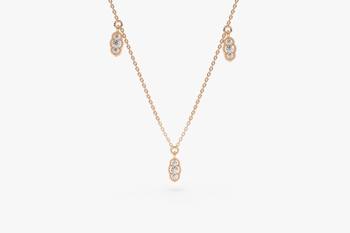 Diamant Kette CAMILA I 585er Weißgold 0,12 Karat