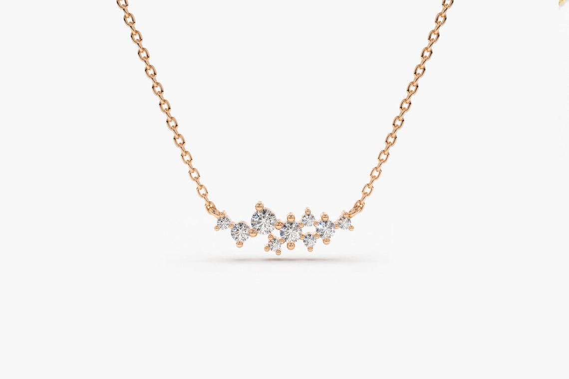 Diamant Kette AURÉLIA I 585er Weißgold 0,25 Karat