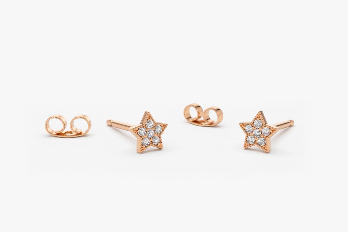 Diamant Ohrringe STELLA I 585er Weißgold 0,10 Karat