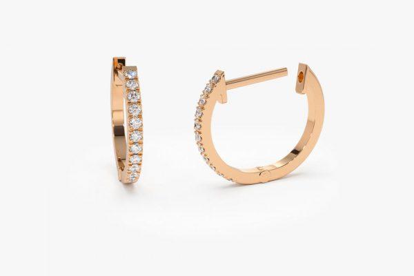 Diamant Ohrringe Creolen CARMEN I 585er Roségold 0,10 Karat