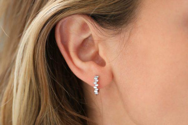 Diamant Ohrringe Creole VICTORIA I 585er Gold 0,39 Karat