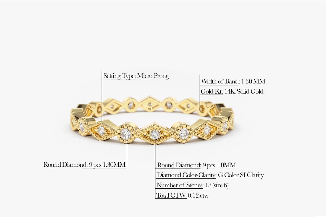 Diamant Ring LINDA I 585er Roségold 0,12 Karat