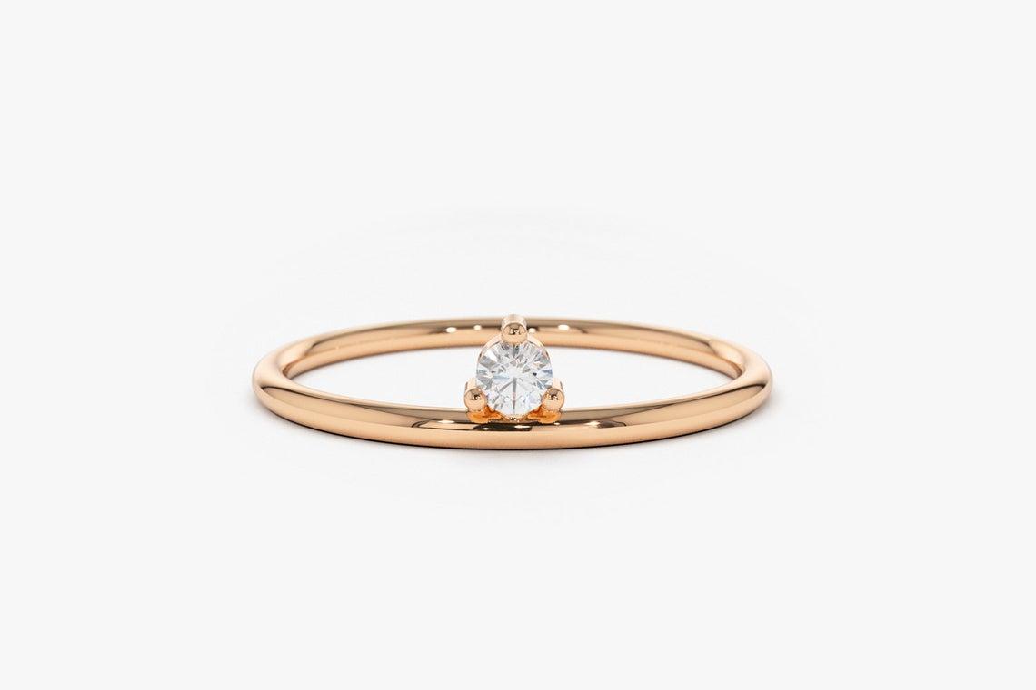 Diamant Ring EMMA I 585er Roségold ca. 0,05 Carat