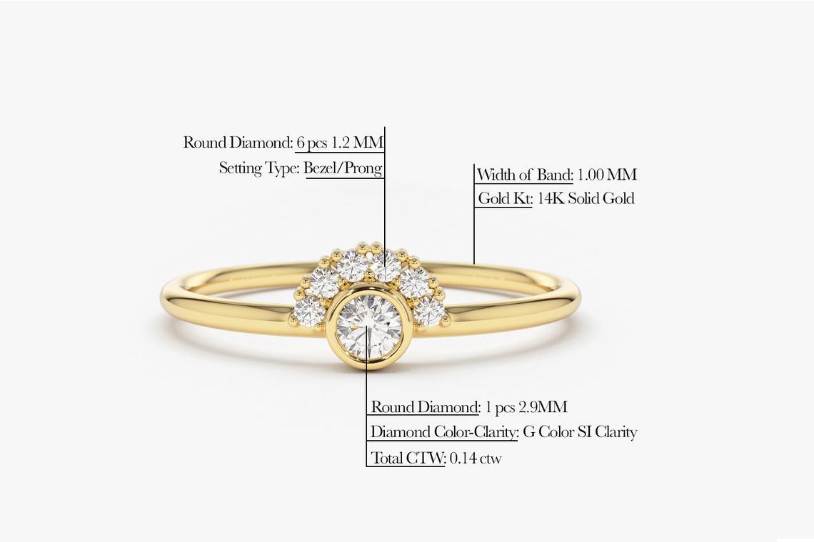 Diamant Ring NICOLE I 585er Roségold 0,14 Karat