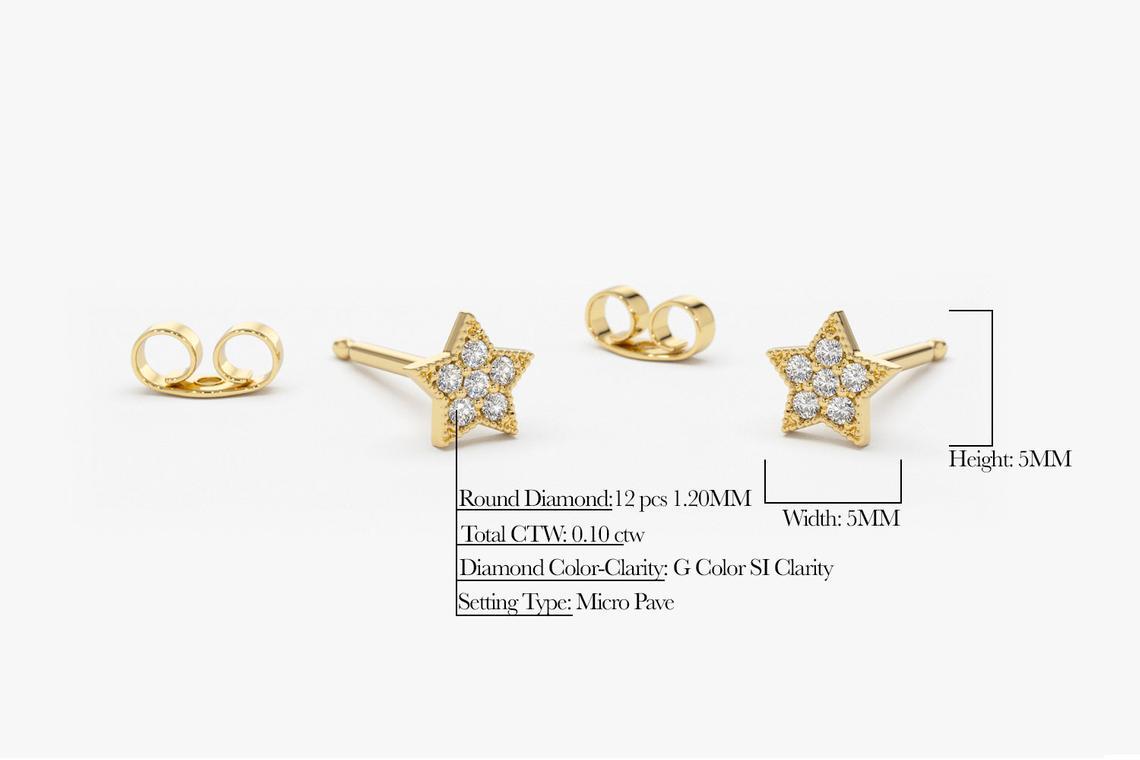 Diamant Ohrringe STELLA I 585er Gold 0,10 Karat
