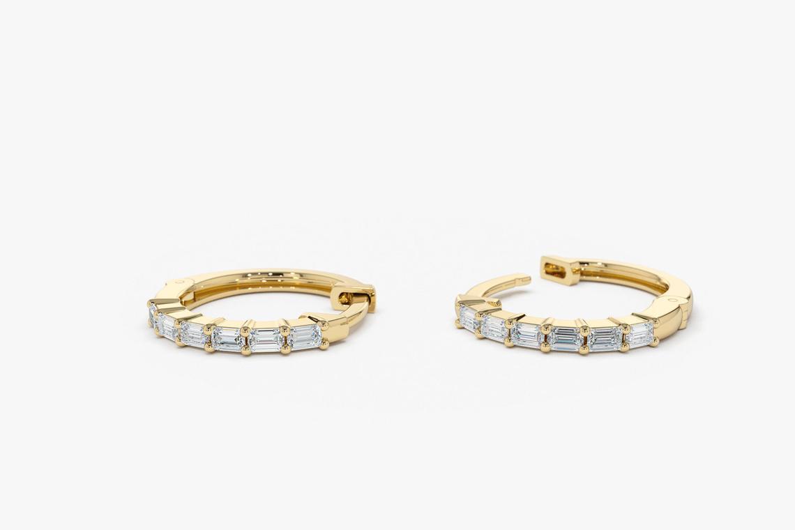 Diamant Ohrringe Creolen CARRIE I 585er Roségold 0,25 Karat