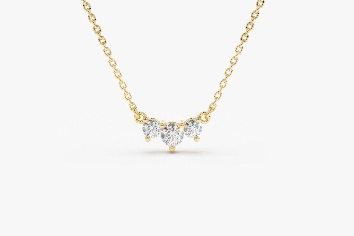 Diamant Kette AVERY I 585er Weißgold 0,26 Karat