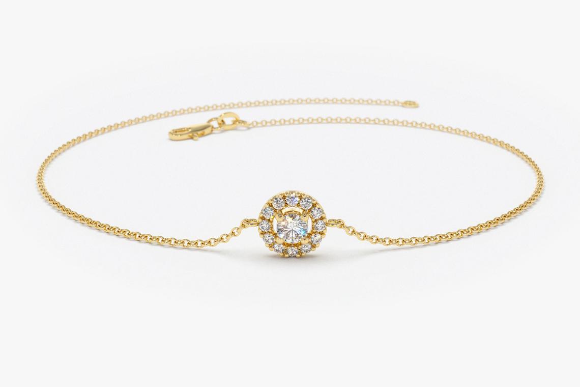 Diamant Armband GULILIA I 585er Weißgold0,15 Karat
